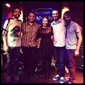 Johannes, (far left) at the Bitter End Jazz Club in NYC with Helen Shanahan Band