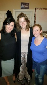 Kat Rogers, Pamela Shermann and Becky Hands-Wicks at e-baby London reading