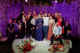 MELBA CAST AND CREW WITH COMPOSER CENTRE STAGE