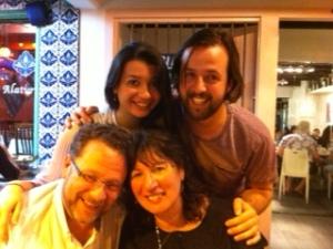 Rob, Greta, Johannes and me, Christmas 2013