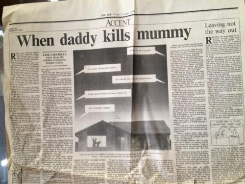 When daddy kills mummy